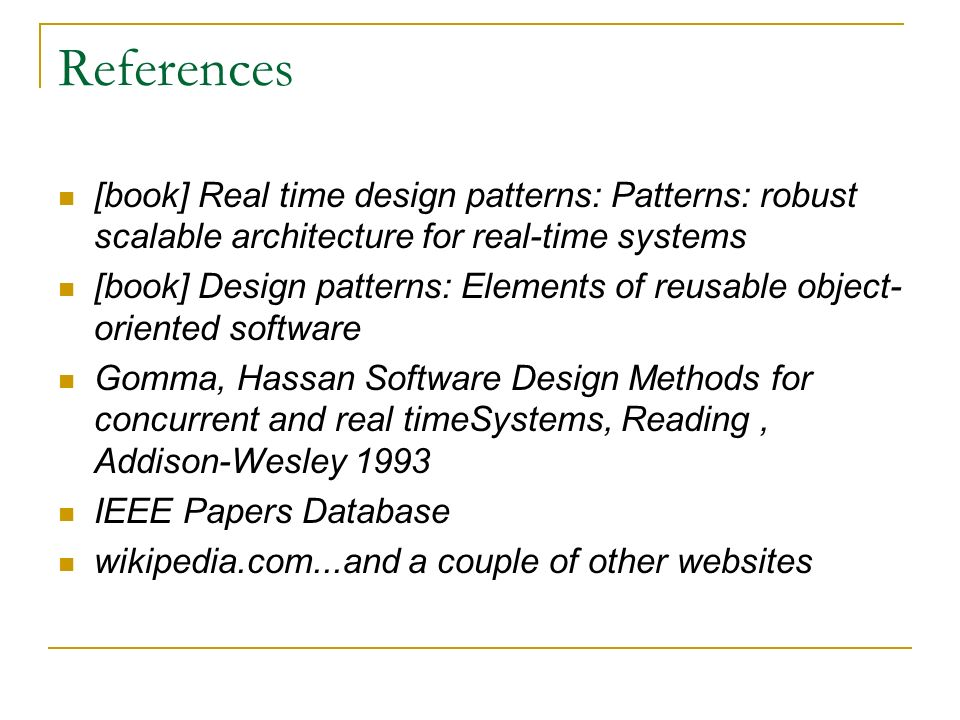 research papers in object oriented software system Integration testing of object-oriented components using finite state each class in an object-oriented software system research papers in data flow.